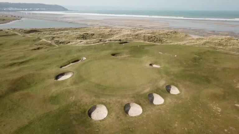 Royal North Devon Golf Club Bunker mer parcours de golf