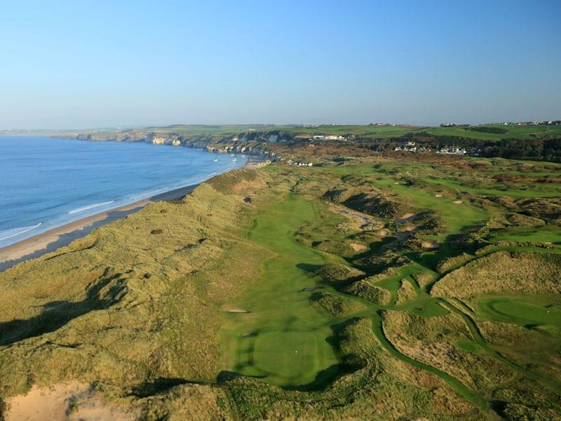 Royal Portrush Golf Club - Dunluce Course Vue aerienne du parcours irlande du nord
