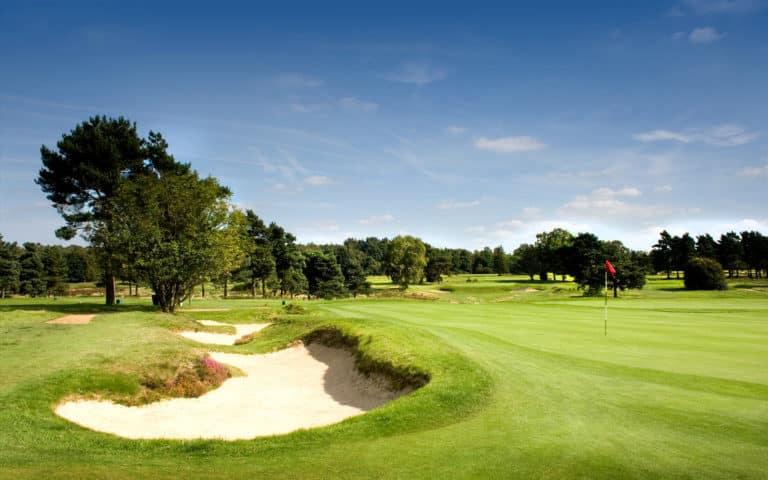 Walton Heath Golf Club New course Green bunker
