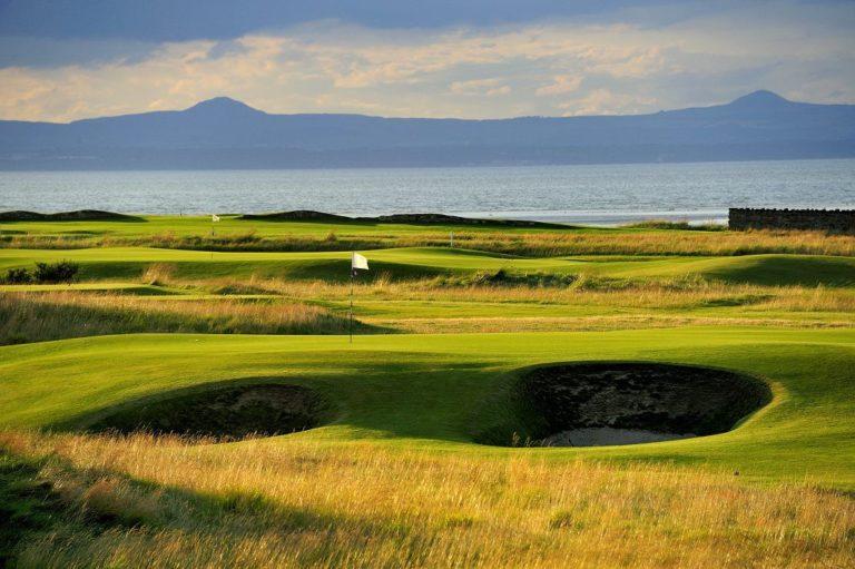 Craigielaw Golf Club Vue montagne mer