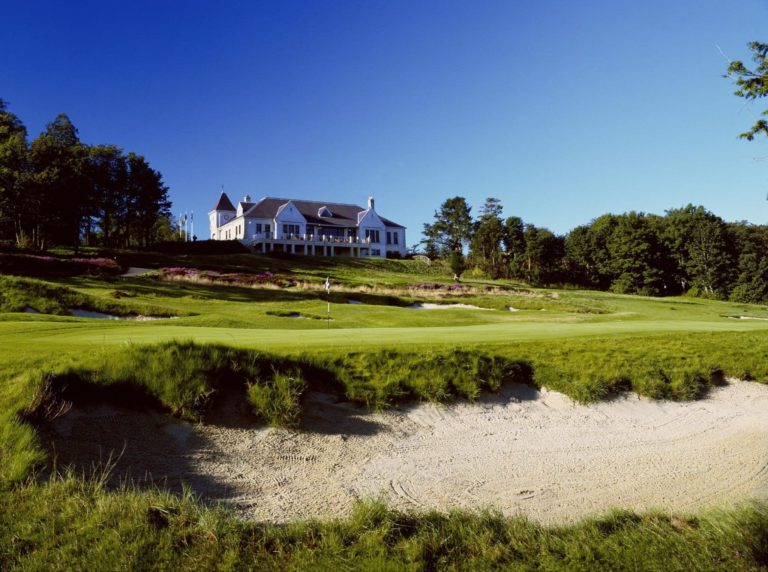 Duke's Golf Course, St Andrews Green du 18 Club-House
