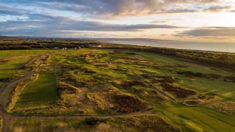 Gailes Links Golf Course Parcours de golf Ecosse vue aerienne