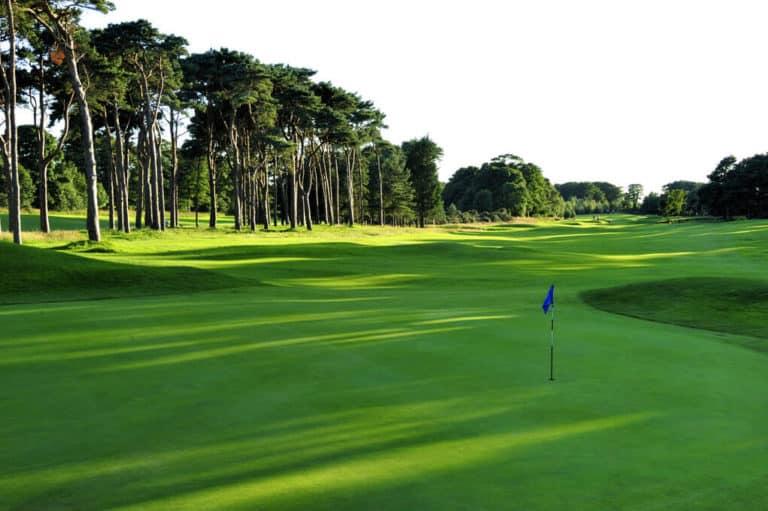 Longniddry Golf Club Fairway du trou 10 Pins arbres green