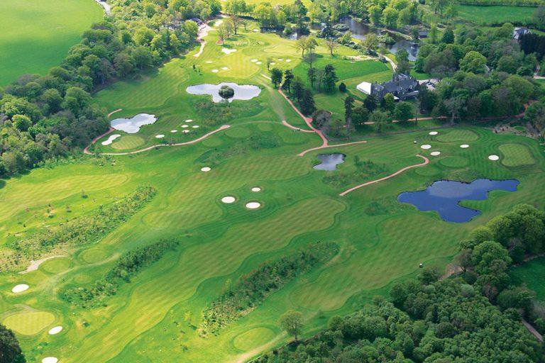 Meldrum House Country Hotel & Golf Course Vue aerienne du parcours de golf Drone