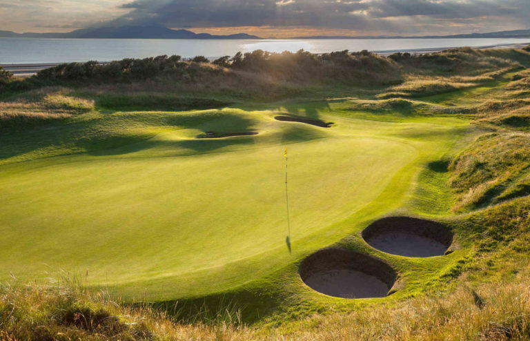Western Gailes Golf Club Ecosse vue Mer