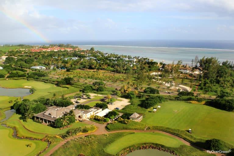 Heritage golf Club Mauritius golf holidays stay golf travel holidays golf aerial view