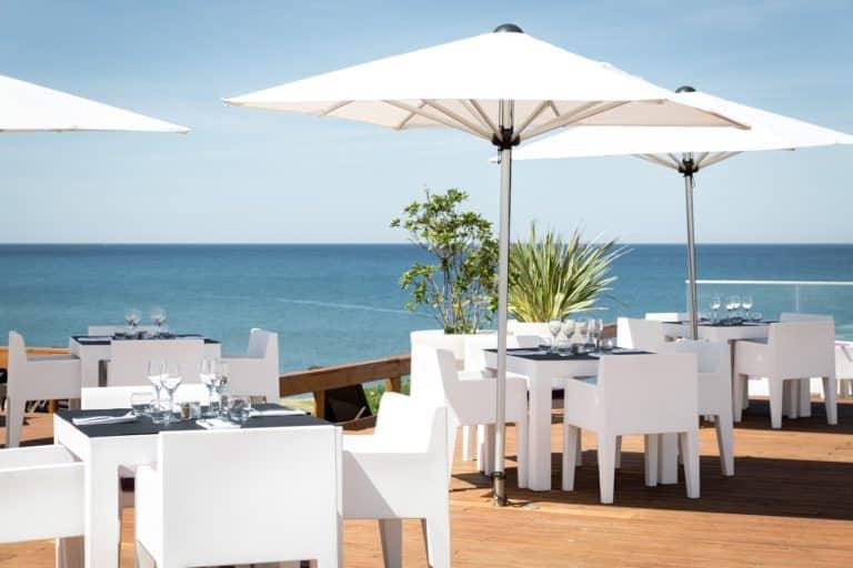 Le Grand Hôtel de la Plage Terrasse Restaurant Mer Ocean Vacances Landes Golf