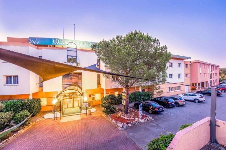 Quality Hotel du Golf Montpellier Juvignac Entree parking