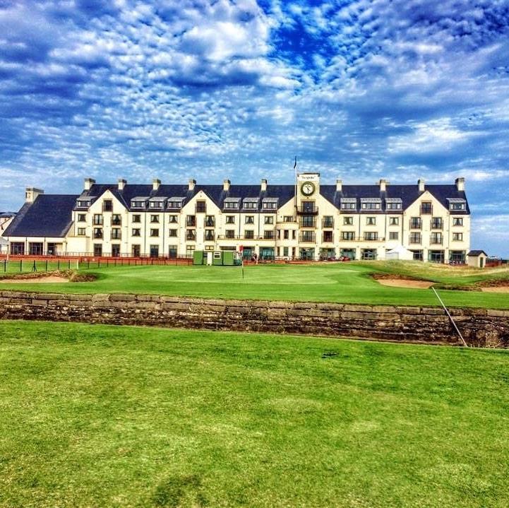 Carnoustie Golf Hotel Hole 18 view hotel Scotland