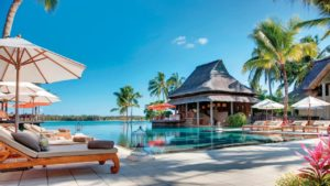 Hotel Constance Prince Maurice Swimming pool palm trees holidays