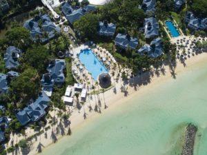 Heritage Hotel Le Telfair Golf & Wellness Resort Mauritius aerial view