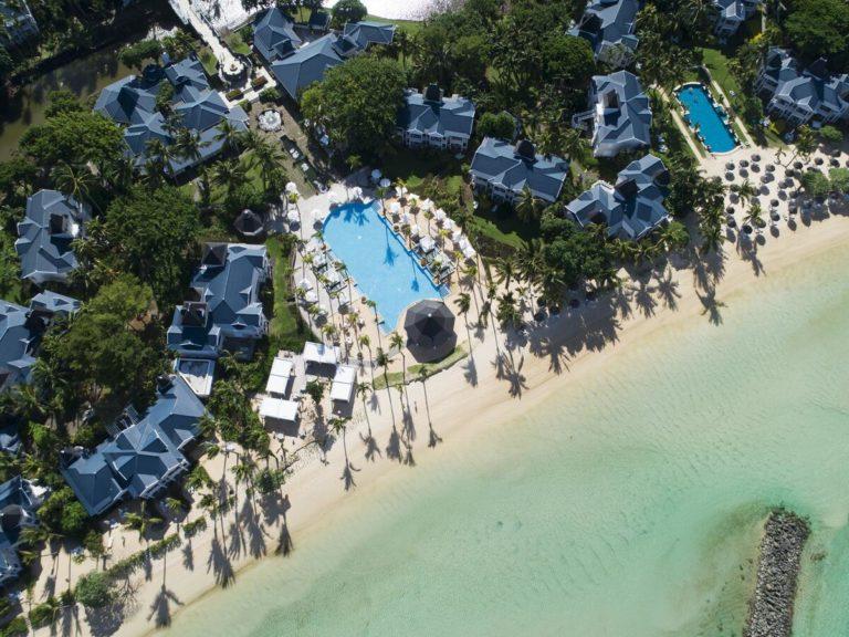 Hôtel Heritage Le Telfair Golf & Wellness Resort Ile Maurice vue aerienne