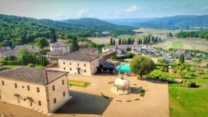La Bagnaia Golf & Spa Resort Siena Toscane italie vue aerienne