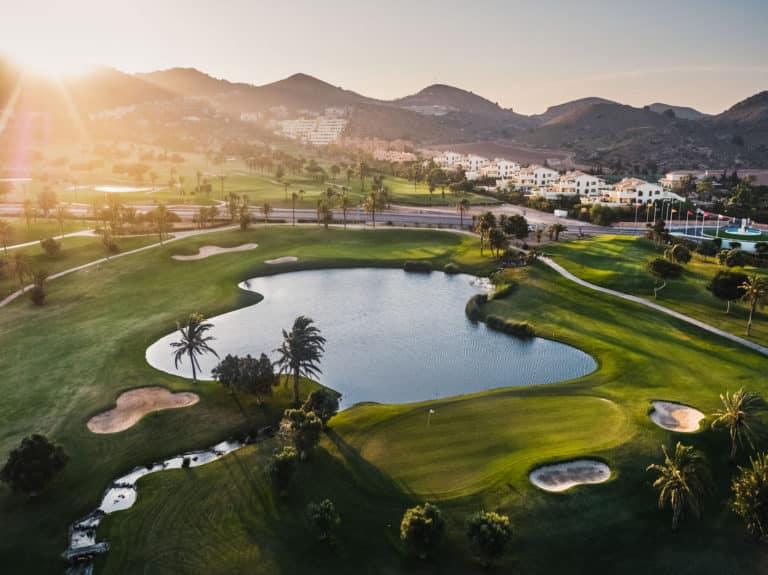 La Manga golf Club Resort Trois parcours de golf 19 trous vue aerienne