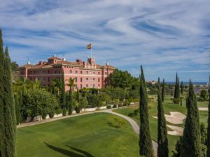 Parcours de golf Tee 1 Hôtel Anantara Villa Padierna Palace Benahavís Marbella Resort