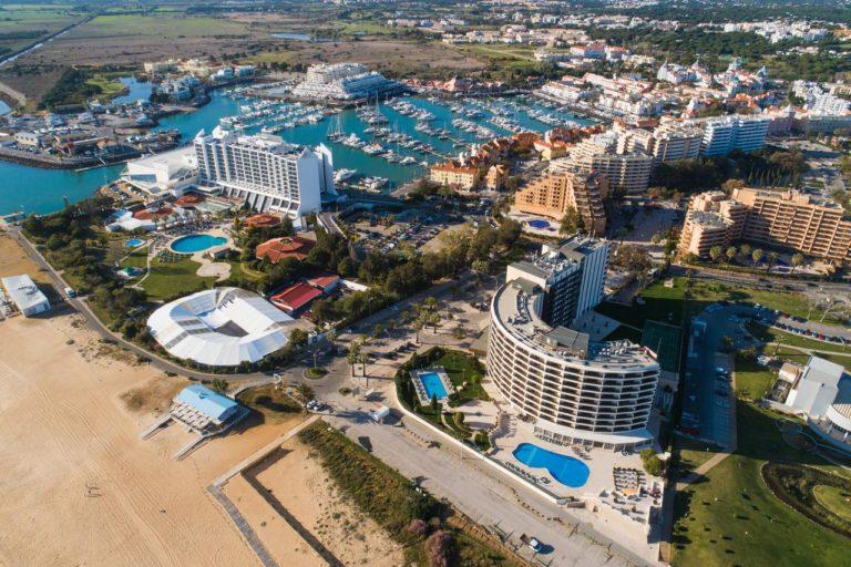 Vila Gale Ampalius Vue aerienne hotel golf port plage