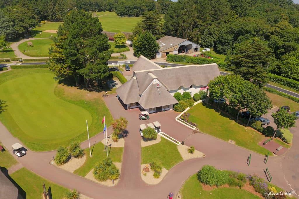 Golf international Barrière La Baule Flyovergreen aerial view
