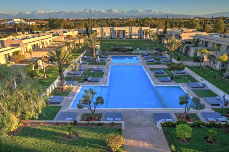 Sirayane Boutique Hotel & Spa Marrakech Sejour golf Maroc Vue aerienne de l'hotel