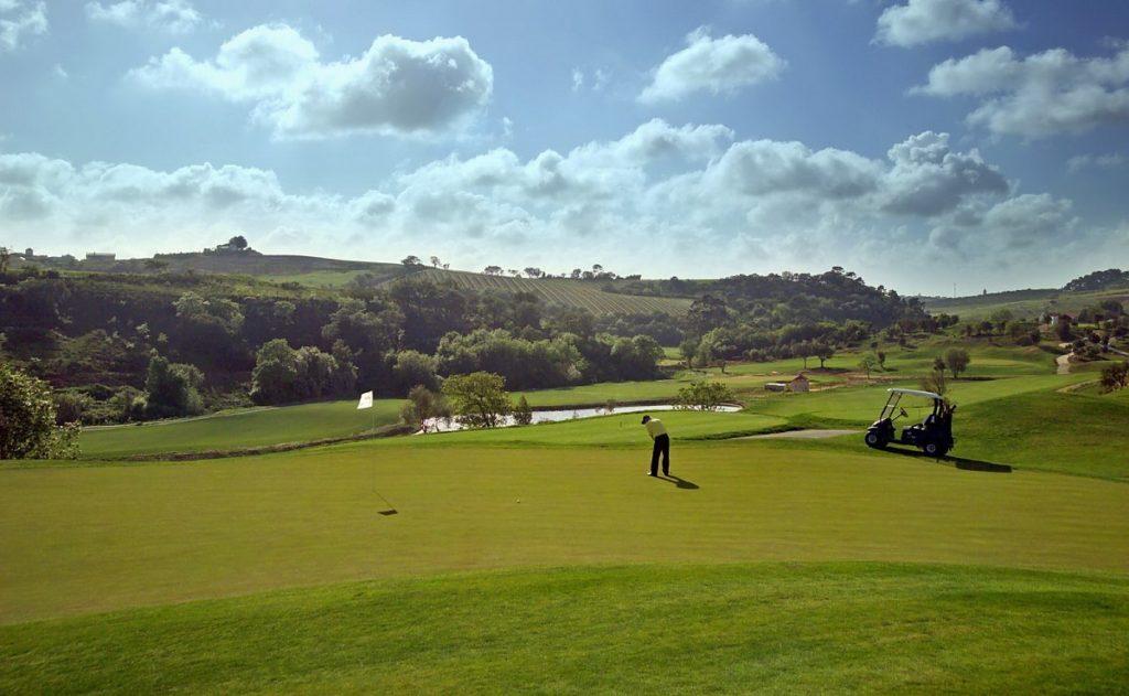 partie de golf golfeur