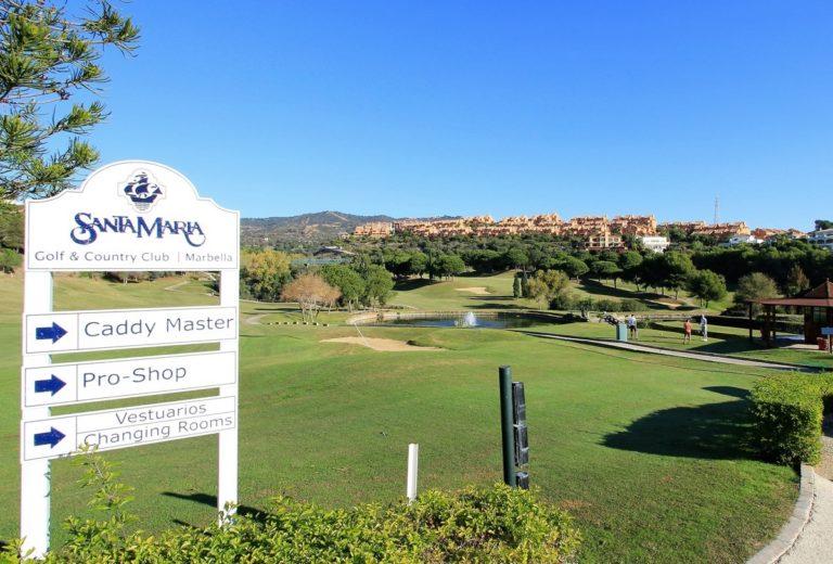 Santa Maria Golf Club trou 1 depart